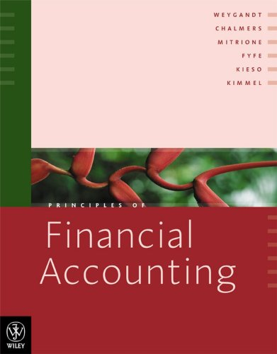 Principles of Financial Accounting [First Printing]: Chalmers, Keryn; Mitrione,