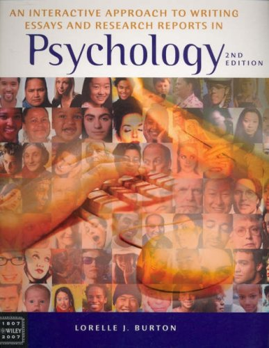 9780470811238: Interactive Approach to Writing Essays and Research Reports in Psychology