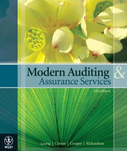 Modern Auditing and Assurance Services (4th Australian: Leung,Coram,Cooper,Richardson