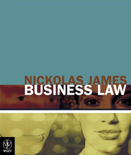 Business Law: James, Nickolas