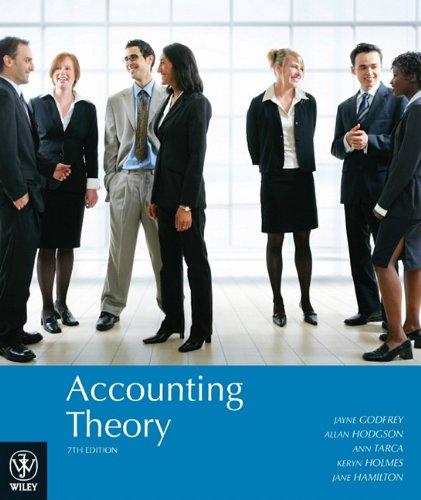 Accounting Theory: Godfrey, Jayne; Hodgson,