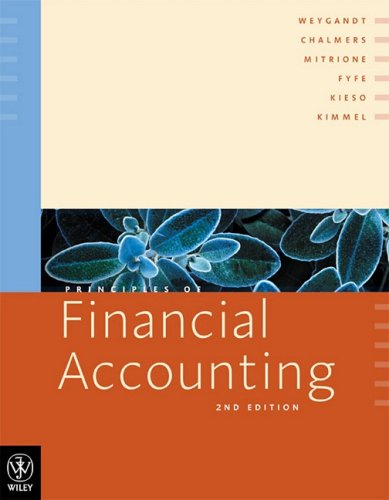 Principles of Financial Accounting: Weygandt, Jerry J.,