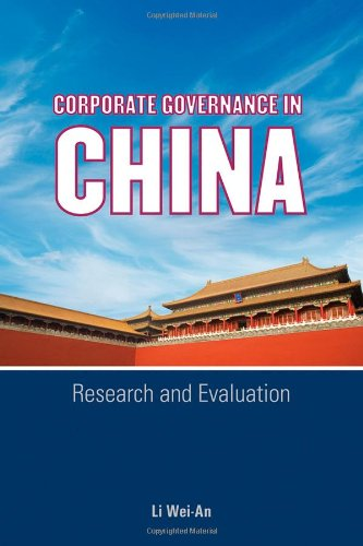 9780470823408: Corporate Governance in China: Research and Evaluation