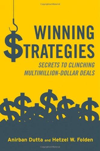 9780470824665: Winning Strategies: Secrets to Clinching Multimillion-Dollar Deals