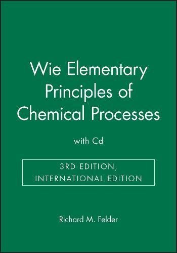 9780470824962: Elementary Principles of Chemical Processes