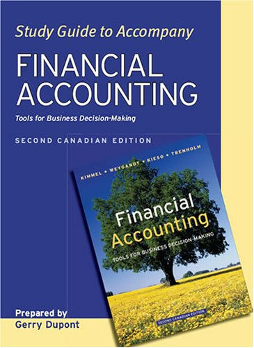 Financial Accounting, Study Guide: Tools for Business: Paul D. Kimmel,