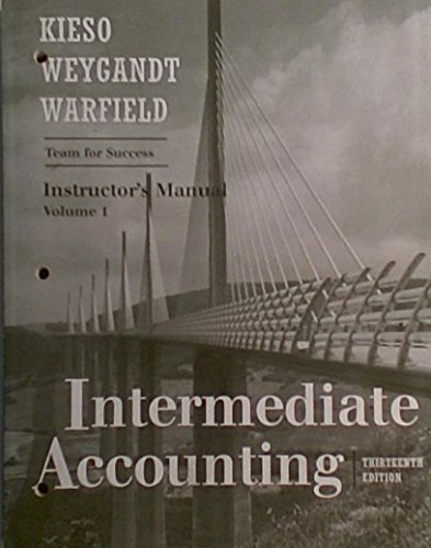 9780470833926: Intermediate Accounting, Volume 1 Text , Instructor's Resource Manual
