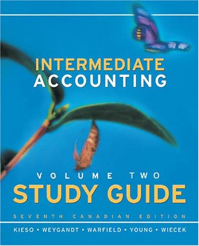 Intermediate Accounting: Study Guide, Vol. 2: Donald E. Kieso,