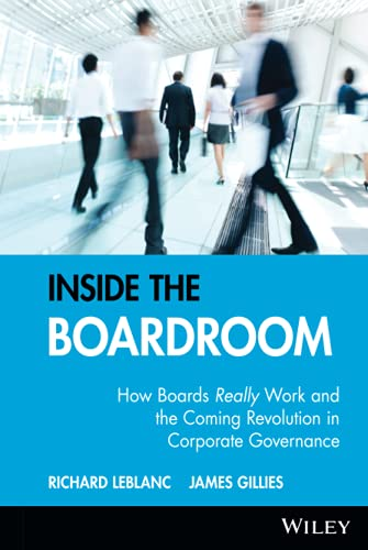 9780470835203: Inside the Boardroom: How Boards Really Work and the Coming Revolution in Corporate Governance