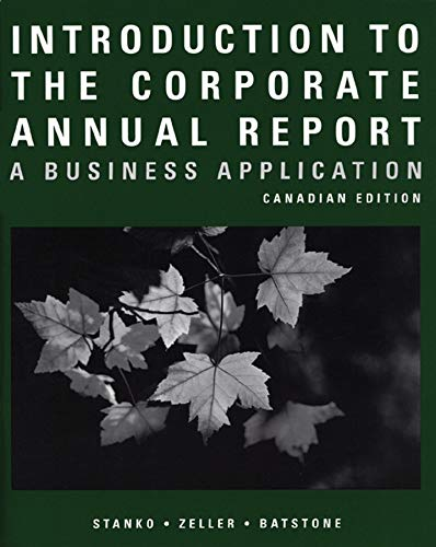 9780470836521: Introduction to the Corporate Annual Report: A Business Application