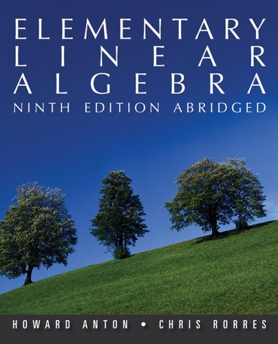 9780470837245: Elementary Linear Algebra, Ninth Edition Abridged