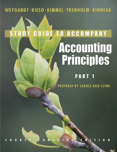 Accounting Principles, Part 1 Study Guide: Jerry J. Weygandt,