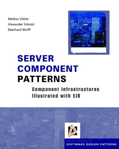 9780470843192: Server Component Patterns: Component Infrastructures Illustrated with Ejb (Wiley Software Patterns Series)