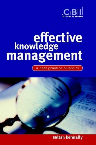 9780470844496: Effective Knowledge Management: A Best Practice Blueprint (CBI Fast Track)