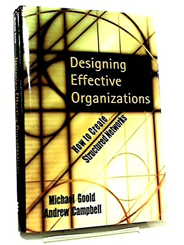 9780470844557: Designing Effective Organizations