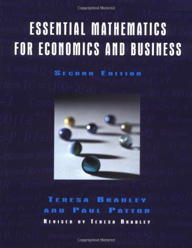 9780470844663: Essential Mathematics for Economics and Business