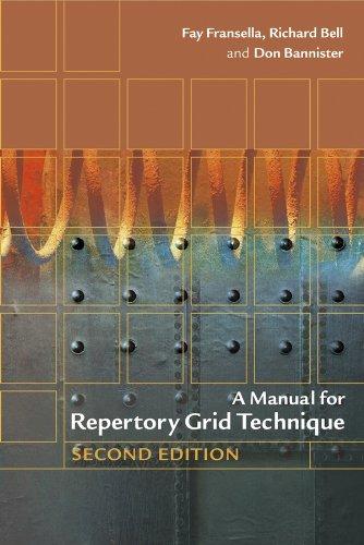 9780470854891: A Manual for Repertory Grid Technique