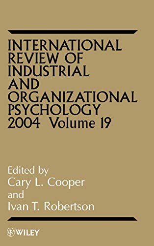 International Review Of Industrial And Organizational Psychology 1998 Volume 13 (Hb)