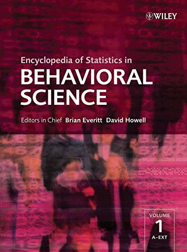 9780470860809: Encyclopedia of Statistics in Behavioral Science