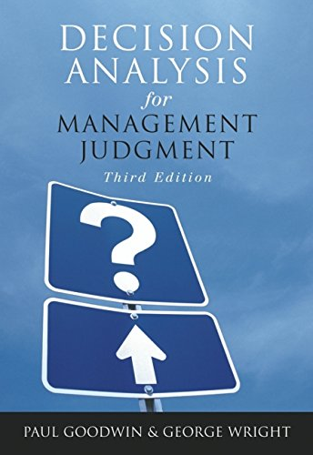 9780470861080: Decision Analysis for Management Judgment, 3rd Edition