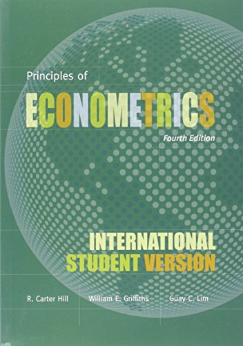 9780470873724: Principles of Econometrics, Fourth Edition International Student Version