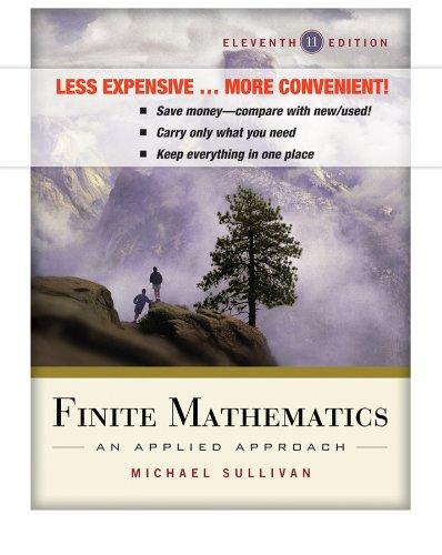 9780470876398: Finite Mathematics: An Applied Approach