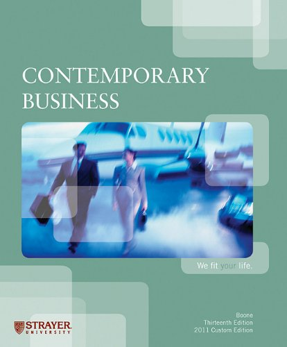 9780470878309: Contemporary Business; 13th Ed. 2011 Custom Edition