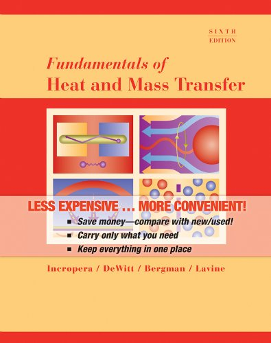 9780470881453: Fundamentals of Heat and Mass Transfer, 6th Edition Binder Ready Version