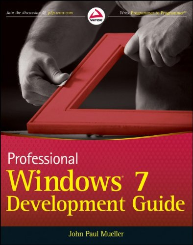 9780470885703: Professional Windows 7 Development Guide