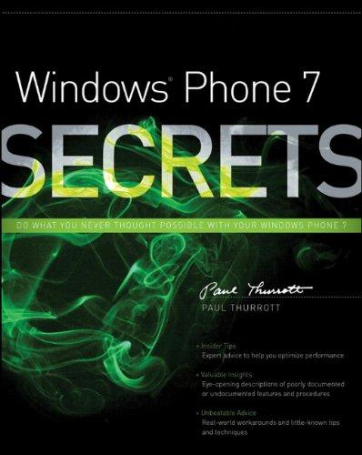 9780470886595: Windows Phone 7 Secrets