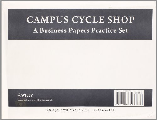 9780470887899: Accounting Principles, Campus Cycle Practice Set