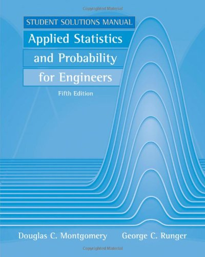 9780470888445: Applied Statistics and Probability for Engineers, Student Solutions Manual