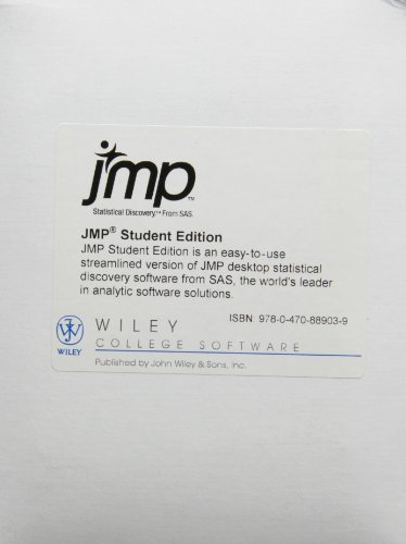 9780470889039: JMP: Streamline Version of Jmp Statistical Discovery Software for Introductory and Intermediate Statistics Courses.
