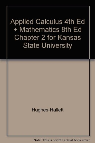 Applied calculus hughes-hallett 4th edition pdf.