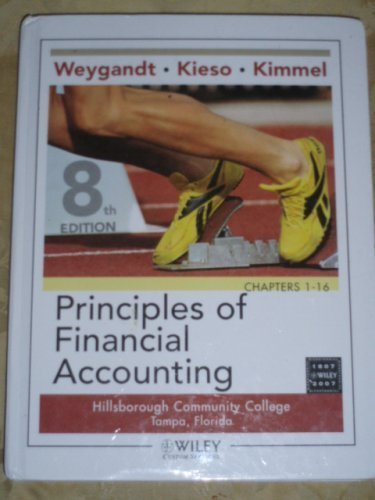 9780470894835: Principles of Financial Accounting, 8th Edition, Custom Edition for Hillsborough Community College, by Weygandt (2008-05-03)