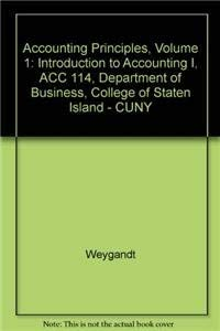 9780470895016: (WCS) Accounting Principles, 8th edition Volume 1 for College of Staten Island - CUNY