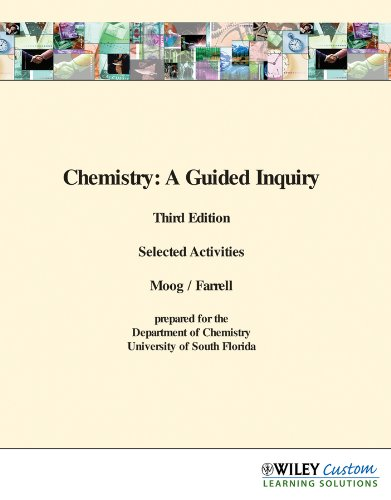 9780470896136: Wcschemistry: A Guided Inquiry, Third Edition Selected Activities - University of South Florida