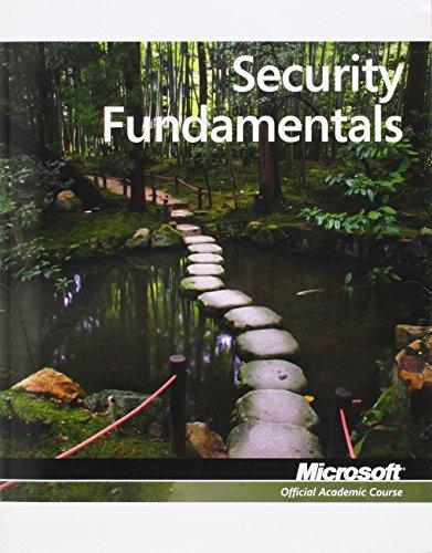 9780470901847: Security Fundamentals, Exam 98-367