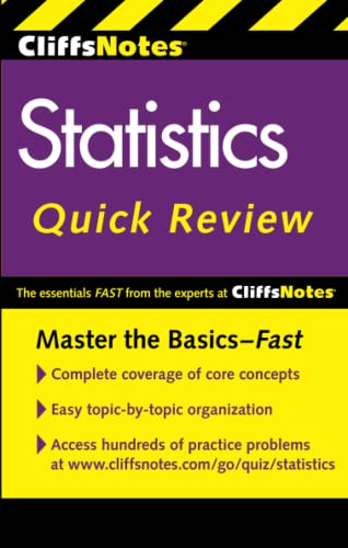 9780470902608: CliffsNotes Statistics Quick Review: Library Edition