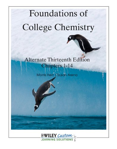 9780470903131: Foundations of College Chemistry Alternate Thirteenth Edition Chapters 1 -14 (Foundations of College Chemistry Alternate Thirteenth Edition Chapters 1 -14)