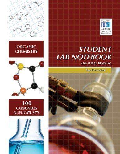9780470903360: by Hayden-McNeil Organic Chemistry Student Lab Notebook: 100 Carbonless Duplicate Sets. Top sheet perforated (2010) Spiral-bound