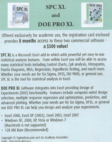 9780470905142: SPC XL and DOE PRO XL (8 month licence)