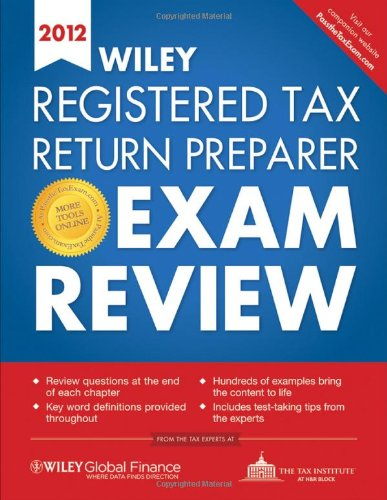 9780470905616: Wiley Registered Tax Return Preparer Exam Review 2012