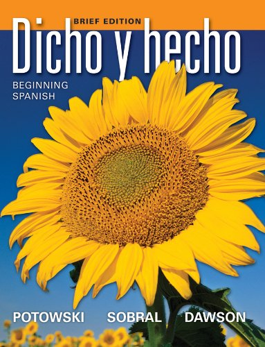 9780470906880: Dicho y hecho: Beginning Spanish (Spanish Edition)