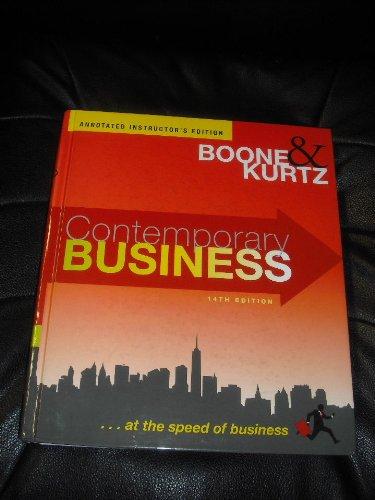 9780470910733: Contemporary Business