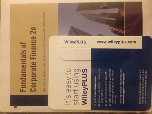 9780470914748: Fundamentals of Corporate Finance 2nd Edition for California with WileyPLUS Set
