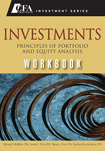 9780470915820: Investments Workbook: Principles of Portfolio and Equity Analysis