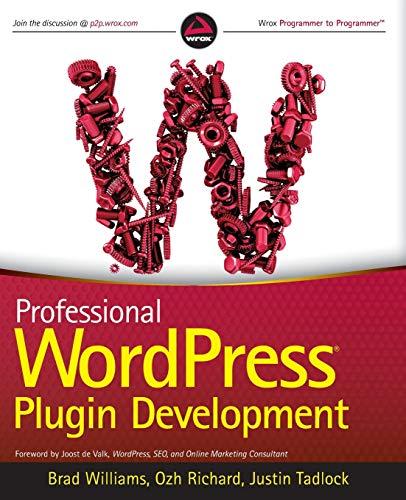 9780470916223: Professional WordPress Plugin Development