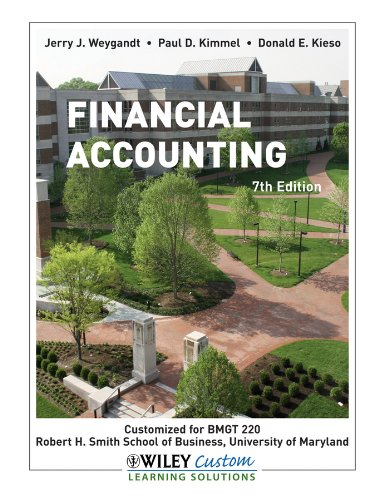 Financial Accounting Loose Leaf Edition (Custom Edition: Jerry J. Weygandt,