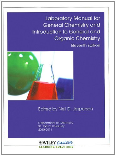 9780470916520: Laboratory Manual for General Chemistry 11th Edition for St. John's University (Wiley Custom Select)